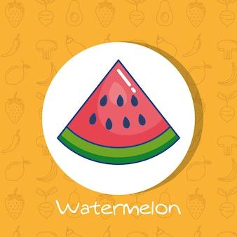 健康的な食べ物のパターンとスイカの新鮮な果物のポスター