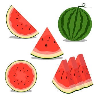 Watermelon fruit illustration good for food and drink