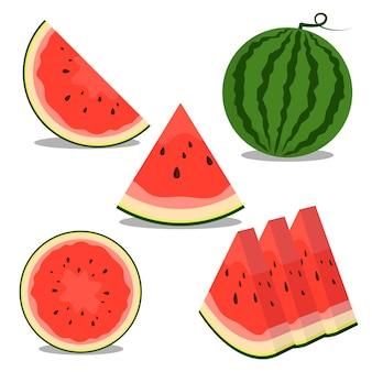 Иллюстрация фруктов арбуза хороша для еды и питья