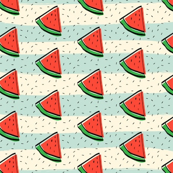 Watermelon fruit pattern background