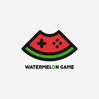 Watermelon game logo template