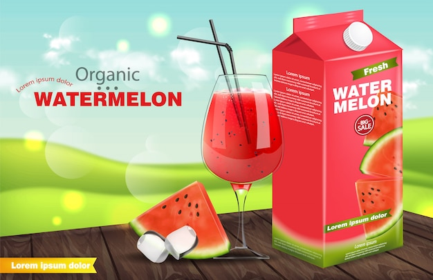 Watermelon juice banner