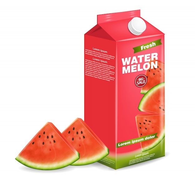 Watermelon juice box