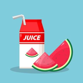 Арбузный сок милый значок логотип