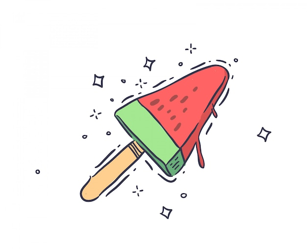 Watermelon juicy ice cream