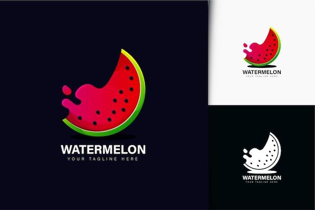 Дизайн логотипа арбуз с градиентом
