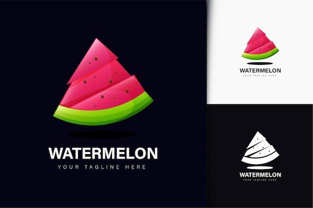 グラデーションのスイカのロゴデザイン