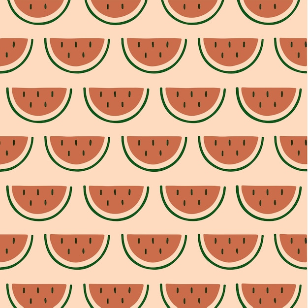 수박 패턴 배경 소셜 미디어 게시물 과일 벡터 일러스트 레이 션