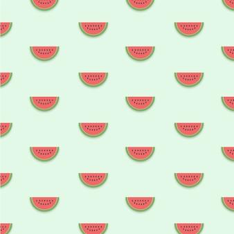수박 패턴 배경