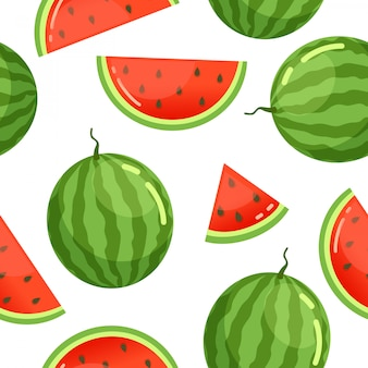 Watermelon pattern seamless