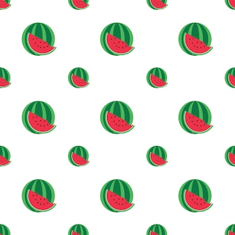 Watermelon pattern. vector illustration