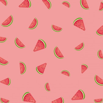 Watermelon pink fruit pattern background