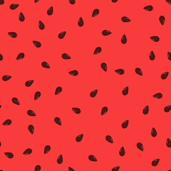 Watermelon seeds background. pattern juicy and sweet flesh watermelon with black grains