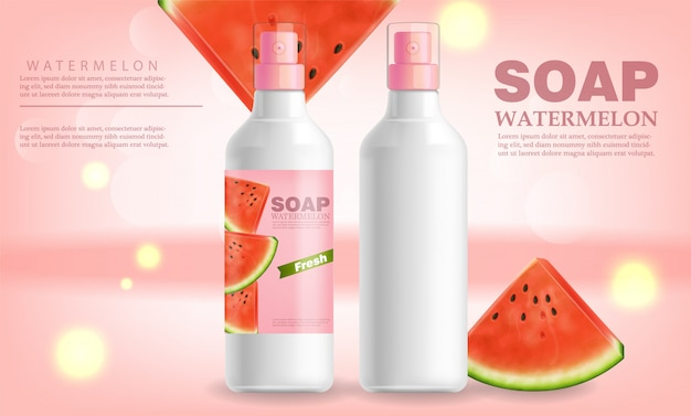 Watermelon soap and lotion banner