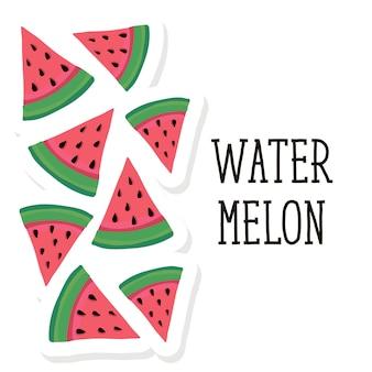 Watermelon style vector illustration food fruit sweet