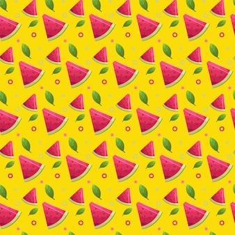 Watermelon summer seamless pattern