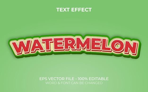 Watermelon text effect style editable text effect fruit theme