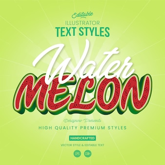 Watermelon text style
