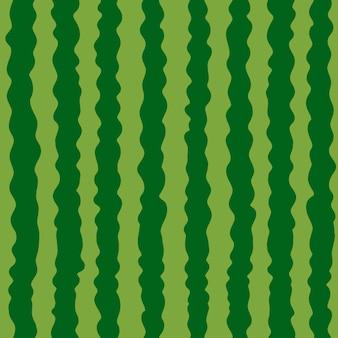 スイカのテクスチャのシームレスなパターン緑のストライプスイカの背景ベクトル図