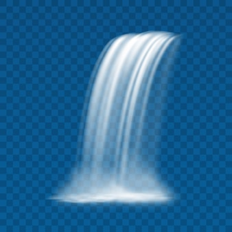 Водный пейзаж течет из ручьев водопад реалистично