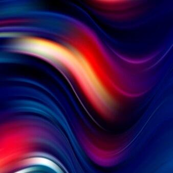 波の抽象的な背景。波アクリル絵の具。波の流れ。