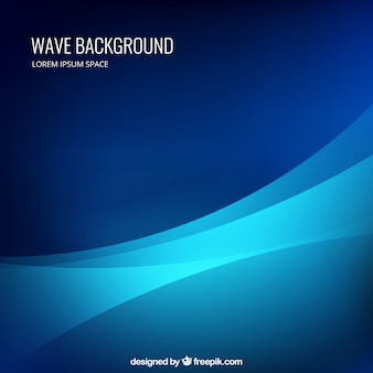 Wave background in  blue colors