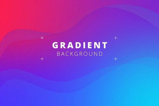 Wave background with fluid gradients