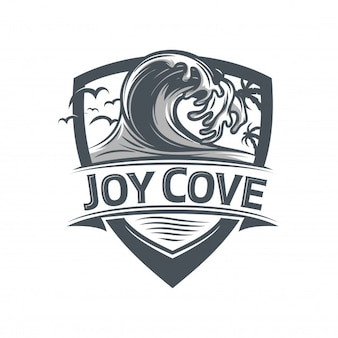 Wave Badge logo