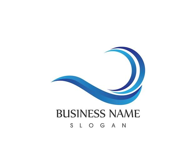 Wave beach icon logo vector design template