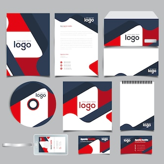 Wave Branding Stationary Identity
