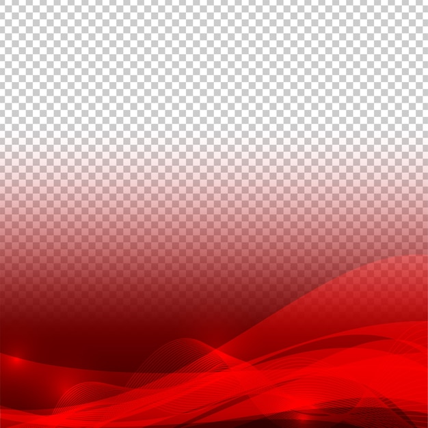 Wave elements red color abstract vector