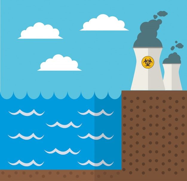 Wave energy nuclear plant