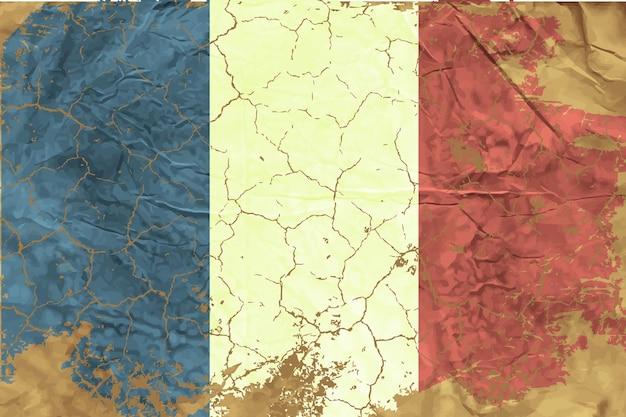 イラストの波の旗。ベクトルイラスト
