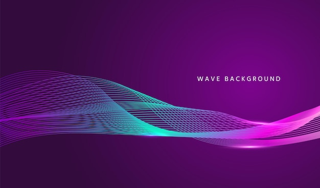 Волна течет фон. волнистая линия баннера. векторная иллюстрация.