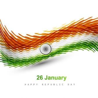 인도 색상 플래그 웨이브