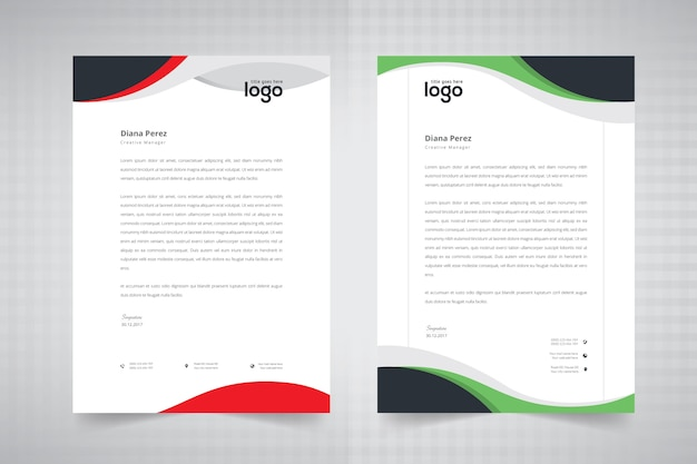 Wave letterhead design