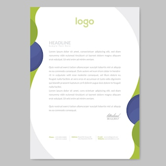 Wave letterhead template