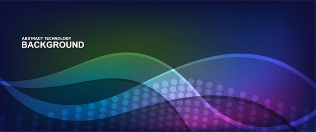 Wave line background with smooth shape