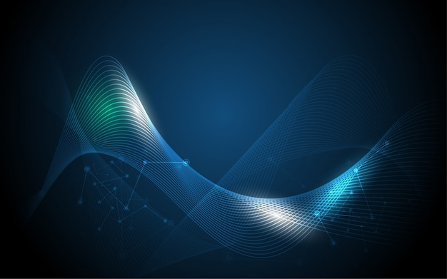 Wave line wireframe abstract background