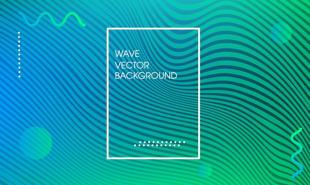 Wave lines trendy web page