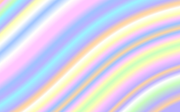 Wave liquid shape pastel rainbow color background