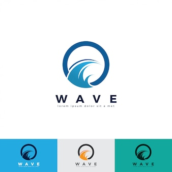 Wave logo design illustration template