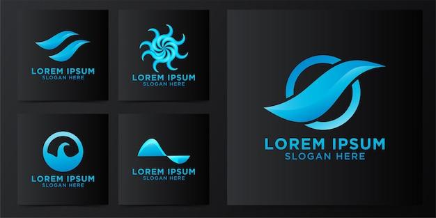 波のロゴデザイン