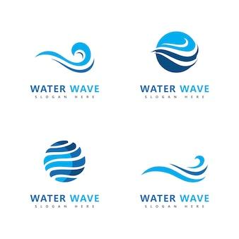 Волна логотип символ векторные иллюстрации дизайн