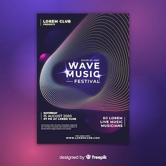 Wave music festival poster
