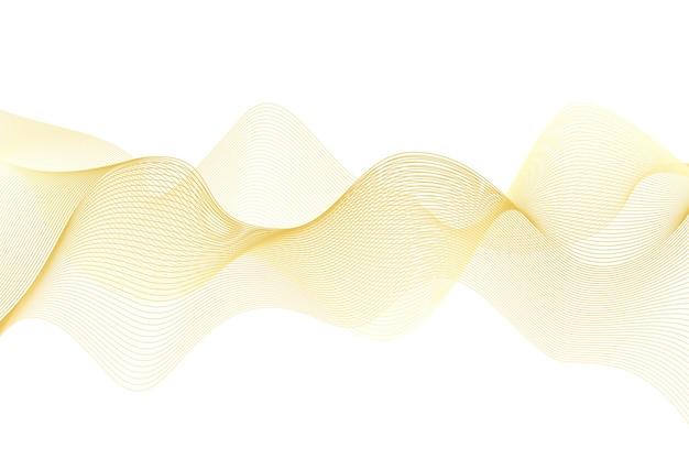 多くのゴールドラインの波