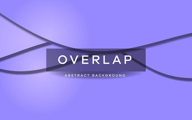 Wave overlap background on purple color