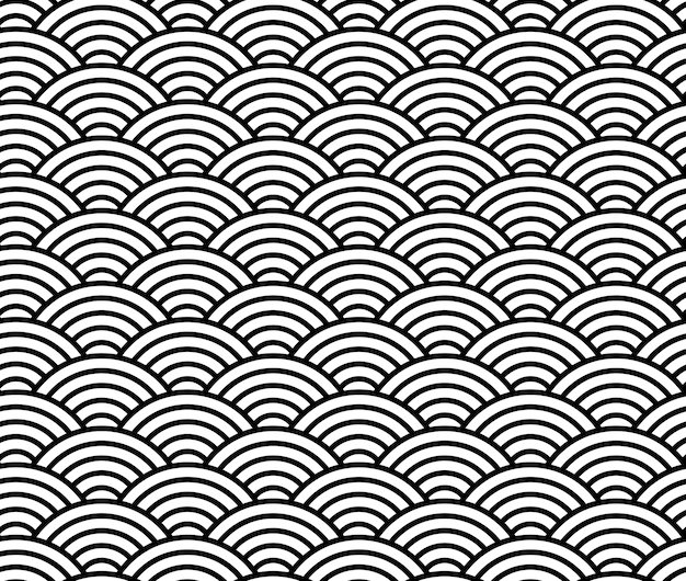Wave pattern. chinese seamless pattern
