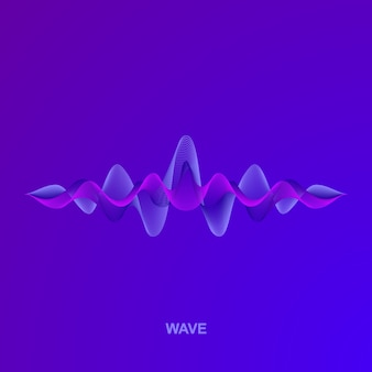 Wave of sound.  illistration
