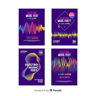 Wave sound poster collection